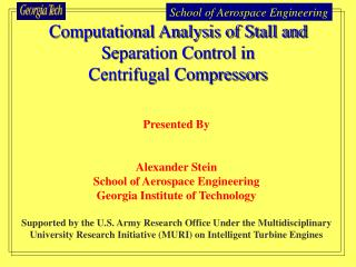Computational Analysis of Stall and Separation Control in  Centrifugal Compressors