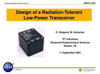 Design of a Radiation-Tolerant  Low-Power Transceiver
