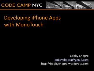 Developing iPhone Apps with MonoTouch