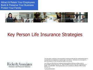 Key Person Life Insurance Strategies