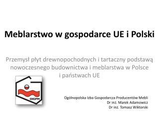 Meblarstwo w gospodarce UE i Polski