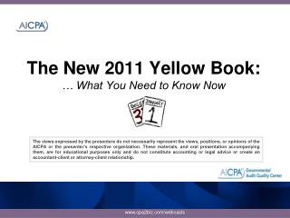 The New 2011 Yellow Book:    What You Need to Know Now