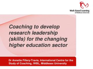 Coaching to develop research leadership skills for the changing higher education sector