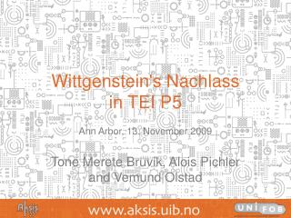 Wittgensteins Nachlass  in TEI P5