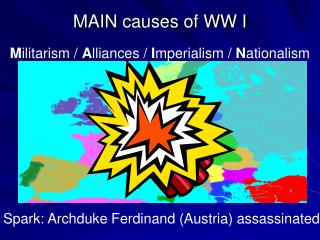 MAIN causes of WW I