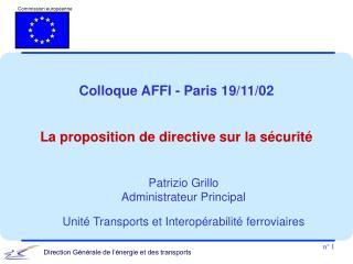 Colloque AFFI - Paris 19