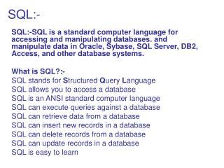 SQL:-
