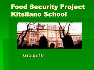 Food Security Project Kitsilano School