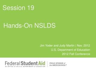 Hands-On NSLDS