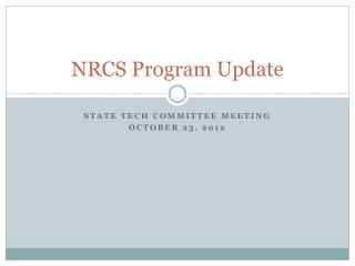 NRCS Program Update