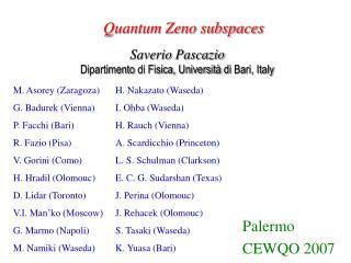 Quantum Zeno subspaces
