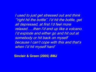 Sinclair  Green 2005 BMJ