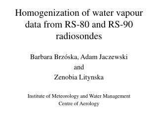 Homogenization of water vapour data from RS-80 and RS-90 radiosondes