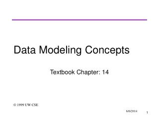 Data Modeling Concepts