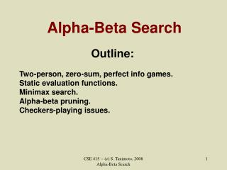 Alpha-Beta Search