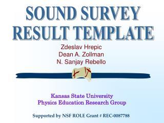 Zdeslav Hrepic Dean A. Zollman N. Sanjay Rebello