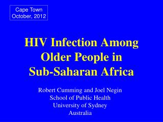 HIV Infection Among Older People in Sub-Saharan Africa