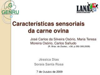 Caracter sticas sensoriais  da carne ovina