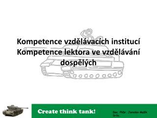 Kompetence vzdel vac ch instituc  Kompetence lektora ve vzdel v n  dospel ch