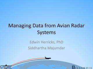 Managing Data from Avian Radar Systems