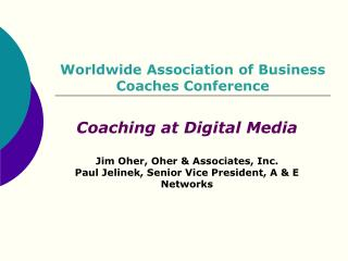 Worldwide Association of Business Coaches Conference