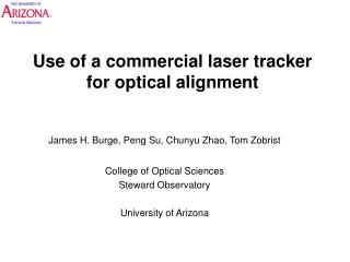 Use of a commercial laser tracker  for optical alignment
