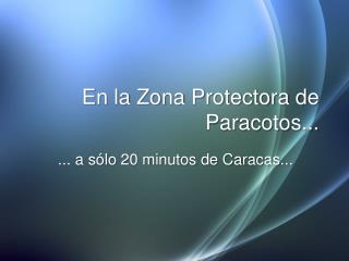 En la Zona Protectora de Paracotos...