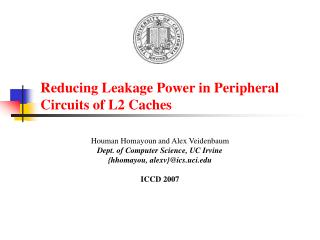 Reducing Leakage Power in Peripheral Circuits of L2 Caches