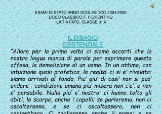 ESAMI DI STATO ANNO SCOLASTICO 2004