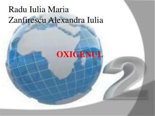 Radu Iulia Maria  Zanfirescu Alexandra Iulia