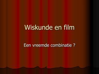 Wiskunde en film