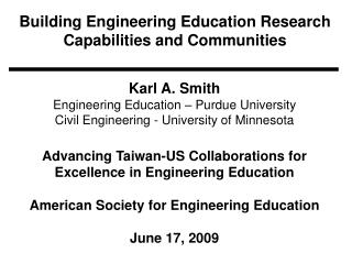 Building Engineering Education Research Capabilities and Communities