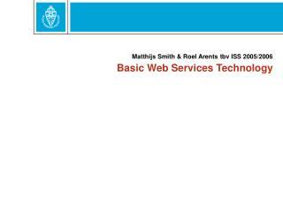 Basic Web Services Technology