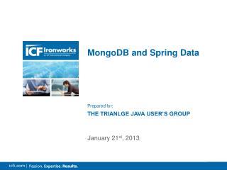 MongoDB and Spring Data