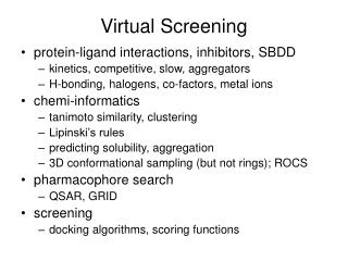 Virtual Screening