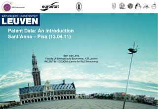 Patent Data: An introduction  Sant Anna   Pisa 13.04.11