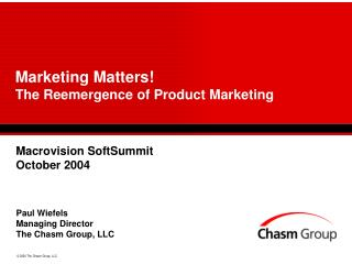 Marketing Matters The Reemergence of Product Marketing