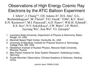 Observations of High Energy Cosmic Ray Electrons by the ATIC Balloon Experiment
