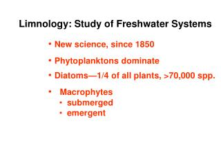 Limnology: Study of Freshwater Systems
