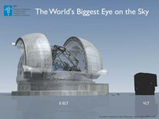 European Extremely Large Telescope - Status April 2009 - ESO