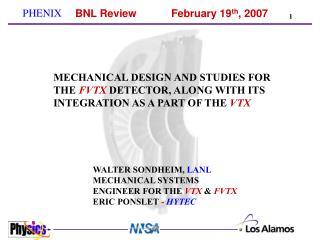 BNL Review  February 19th, 2007