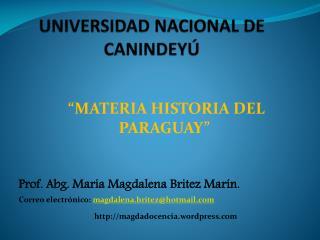 UNIVERSIDAD NACIONAL DE CANINDEY