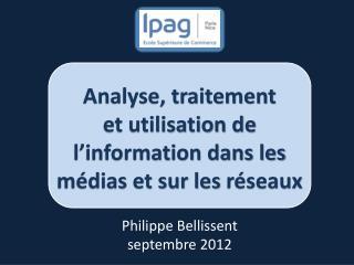 Philippe Bellissent septembre 2012