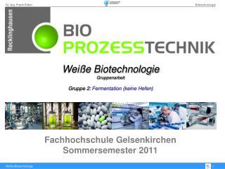 Fachhochschule Gelsenkirchen Sommersemester 2011