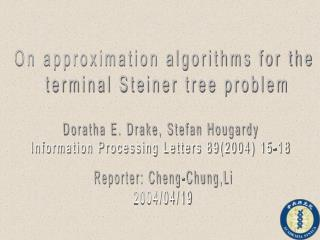 On approximation algorithms for the  terminal Steiner tree problem