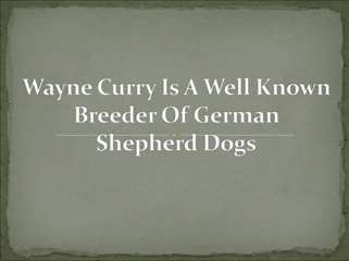 Wayne Curry