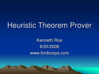 Heuristic Theorem Prover