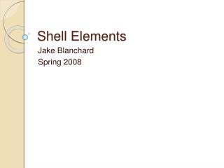 Shell Elements