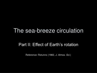 The sea-breeze circulation