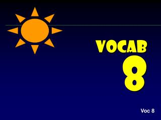 Vocab  8
